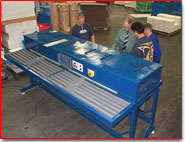 Design, manufacture and commissioning of hot air plastic box welding machine for Killyleagh Box Company